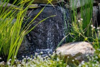 Beautiful water feature installation