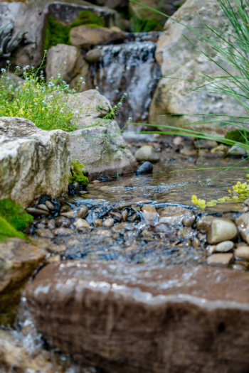Close up photograph of our work as water feature designers