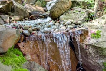 Beautiful waterfall installation