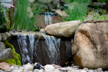 Great shot of one of our most recent water fall installations